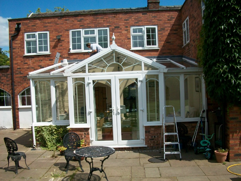 large glass roof conservatory