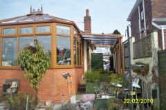 Light oak upvc conservatory