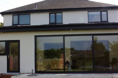 Contemporary coloured upvc orangery