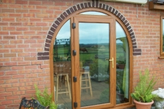 Light oak upvc french door