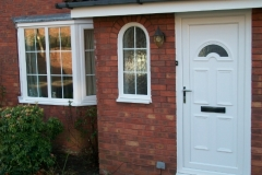 White upvc front door