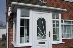 Glazed white upvc front door