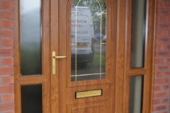 Light oak upvc front door
