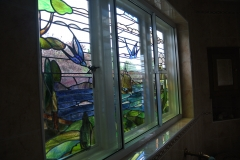 Decorative stained glass upvc feature window