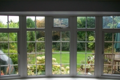 Energy saving double glazing in a bay window