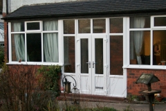 Porch infill in white upvc