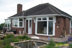 New upvc bay windows