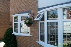 New upvc leaded bay windows