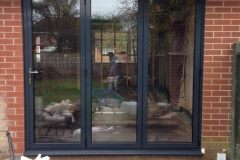 Contemporary coloured upvc french windows