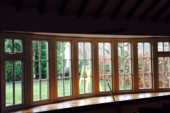 Large upvc bay window with energy saving glass