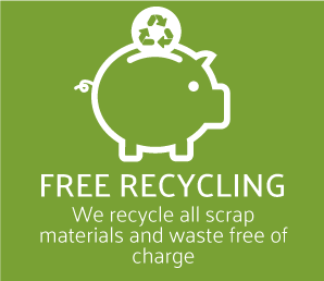We recycle free of charge