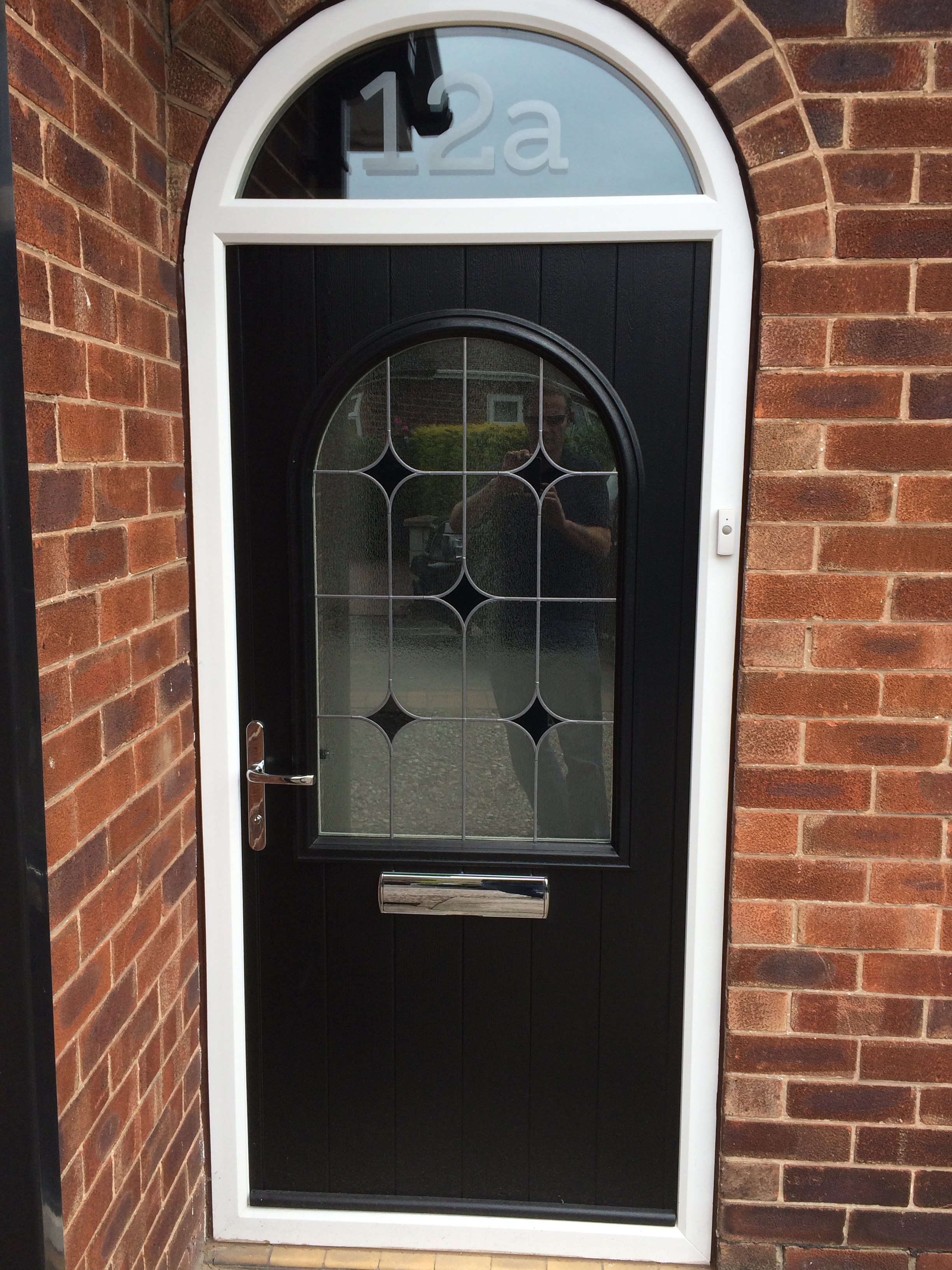 Traditional Style Composite Door With Modern Glass