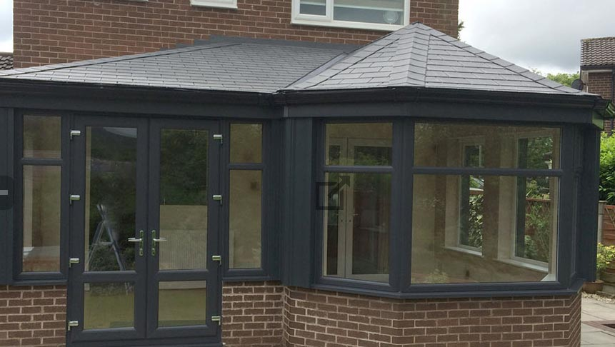 Photo of a tiled conservatory roof