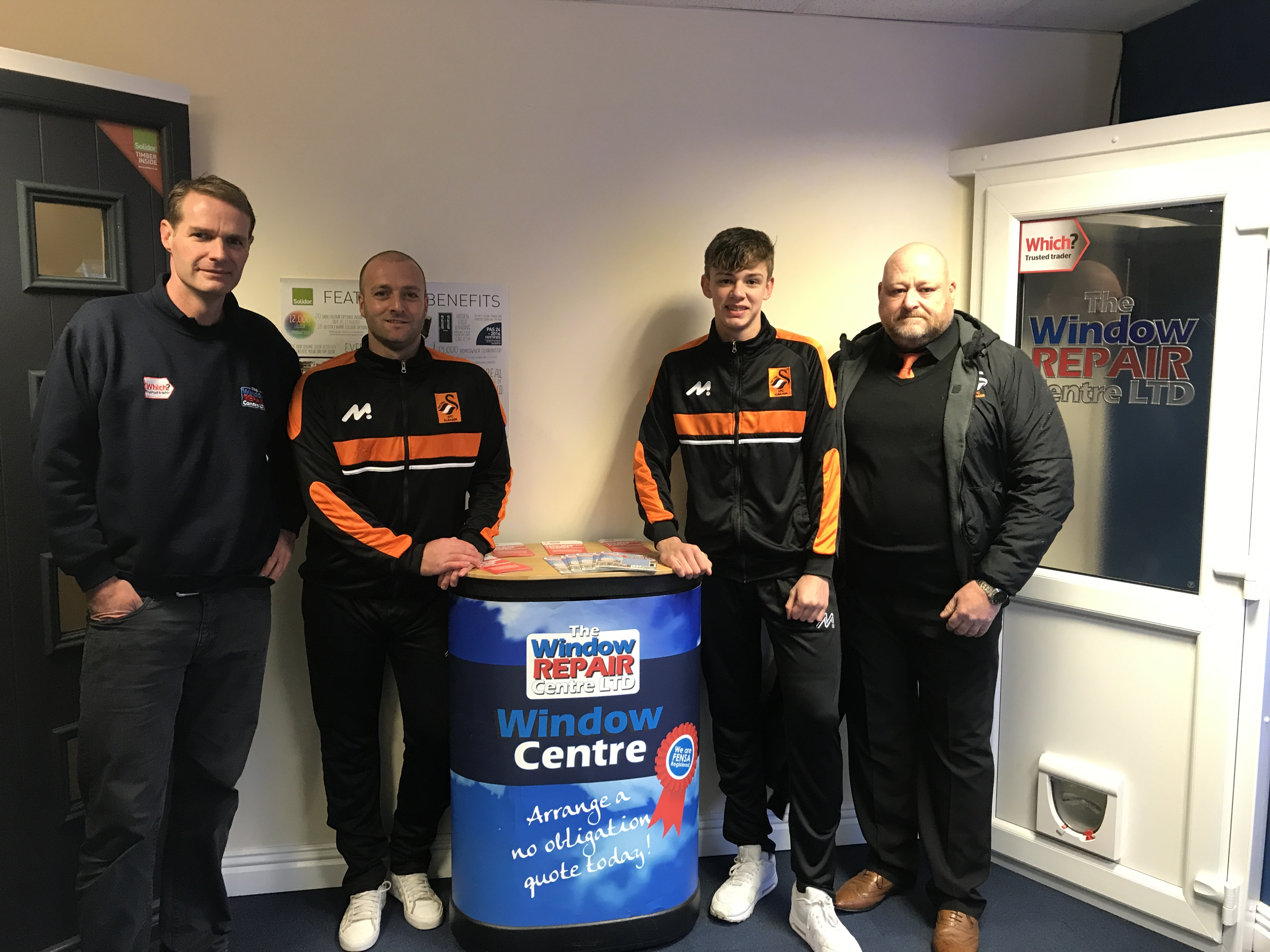 Window Repair Centre Ltd and Alsager FC members