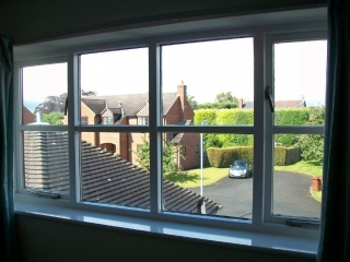 Replacement double glazed units fitted in timber frames by the window Repair Centre
