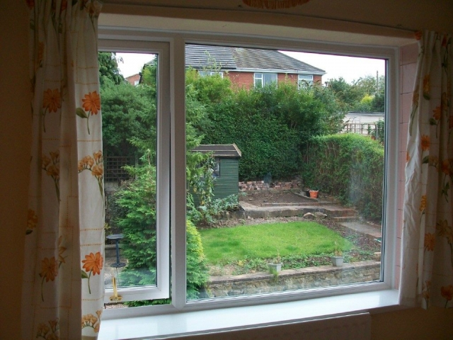 New upvc window with large opening