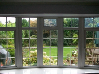 Large upvc bay window inside view
