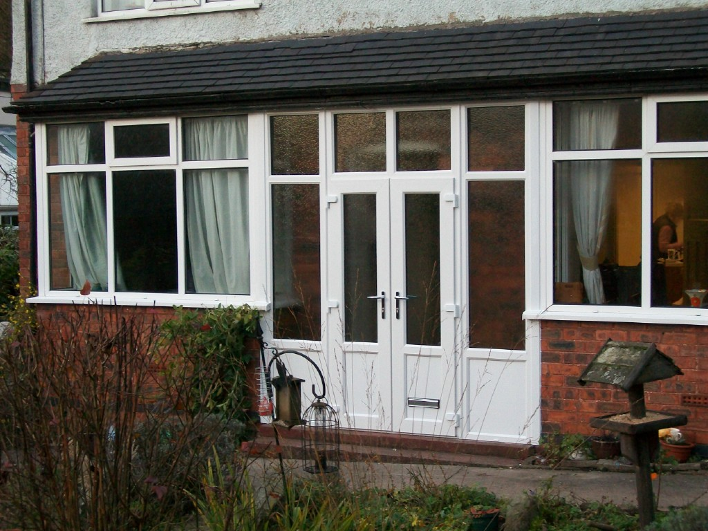 new upvc doors and windows fitted to a front porch