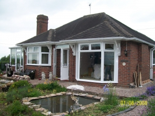 full height upvc bay window
