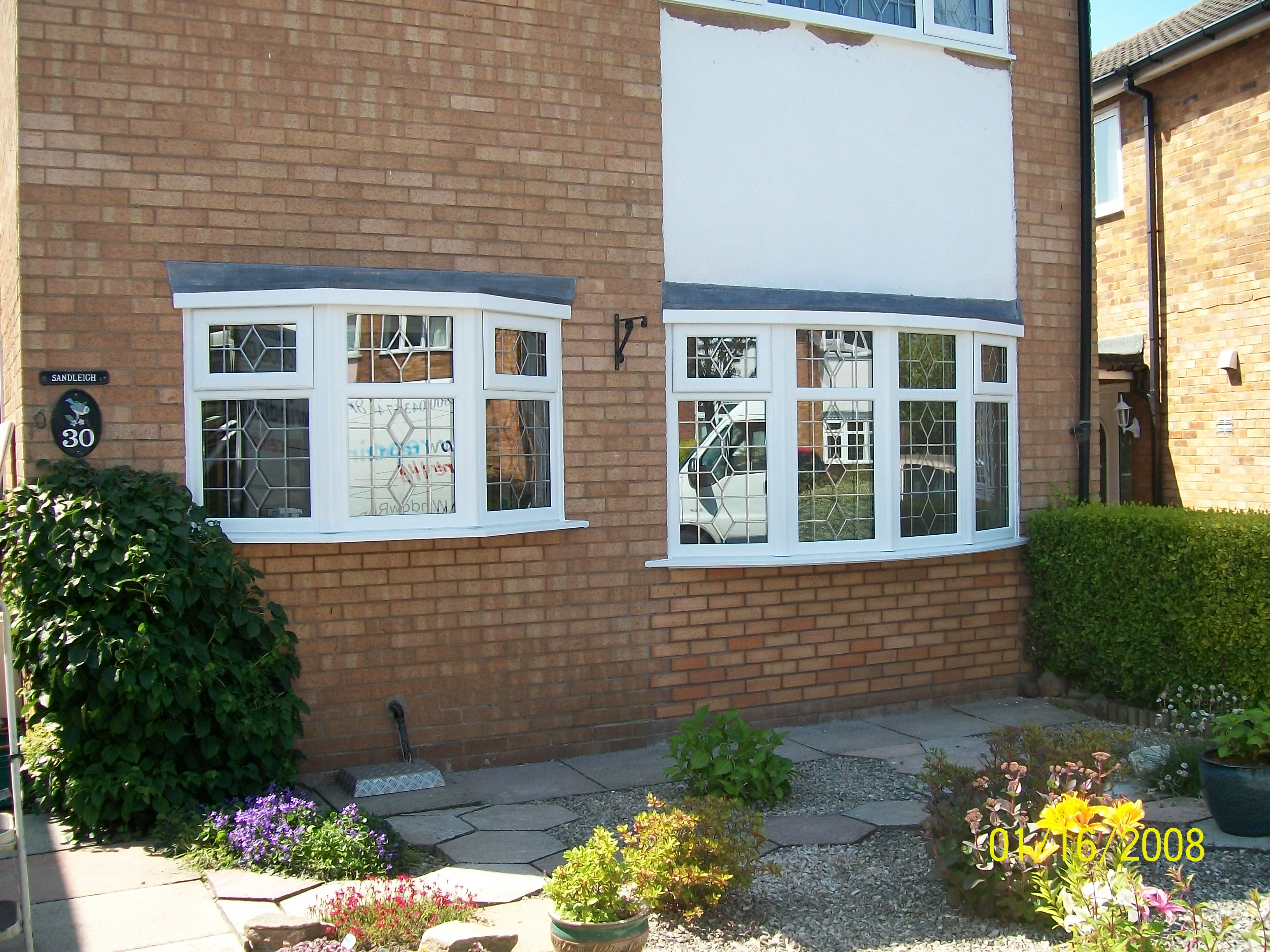 leaded upvc double glazing in a 1960s property
