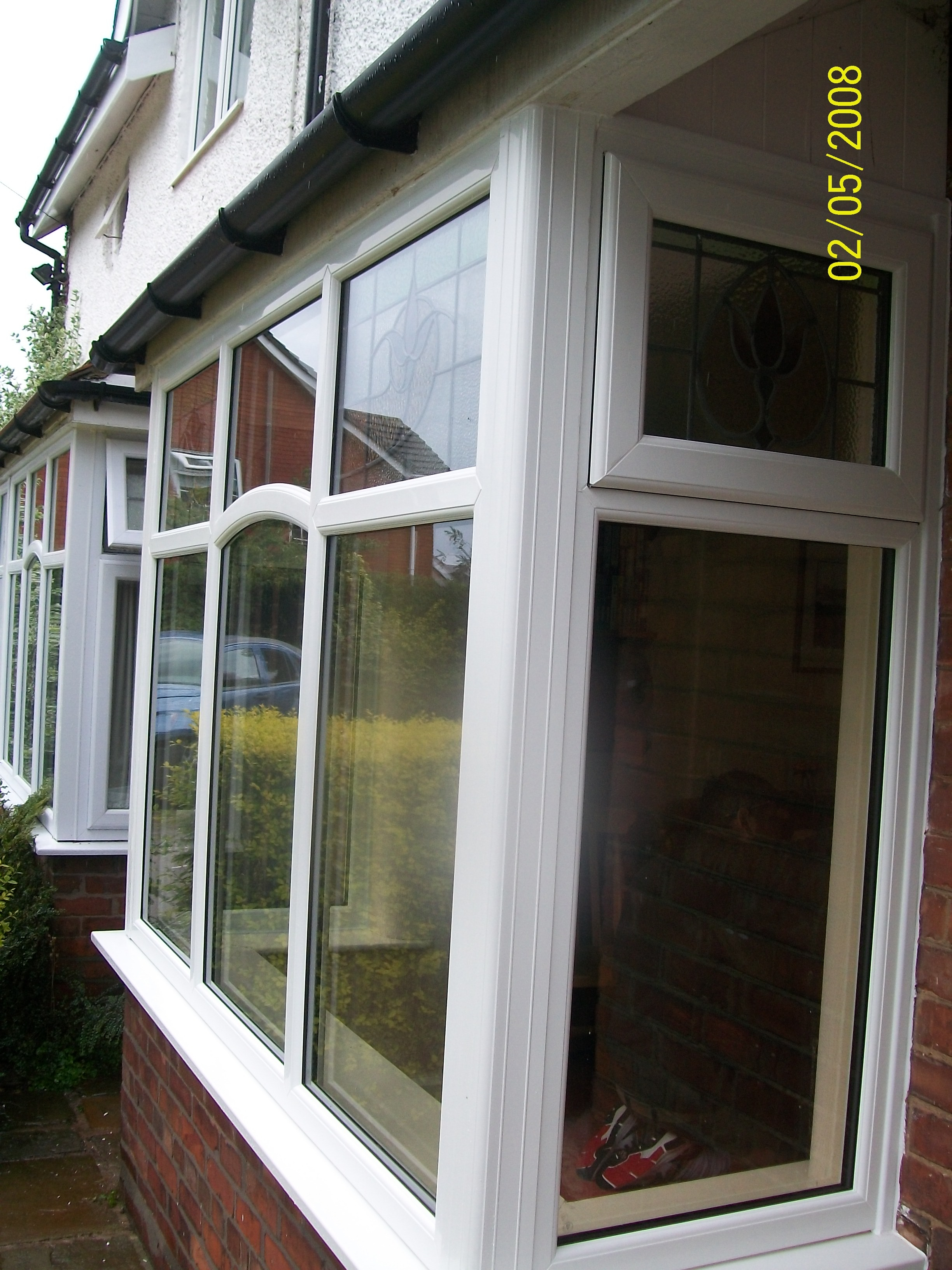 1930s style upvc windows with original leaded lights
