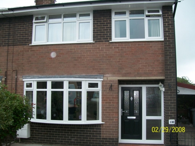 white upvc windows fitted in a 1980s property