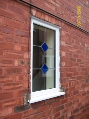 decorative leaded upvc window