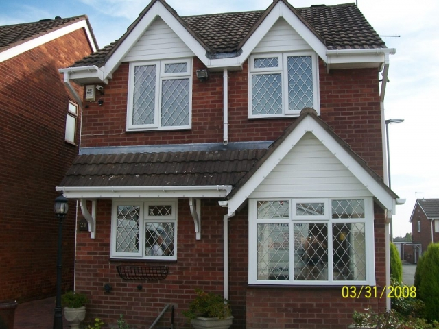 full house of upvc leaded double glazing