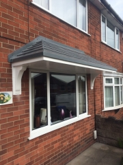 UPVC overhang fitted to a front window