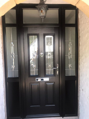 Front door - black, Solidor make