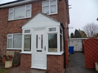 White upvc porch door