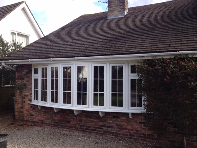 a new upvc bay window fitted by the window repair centre