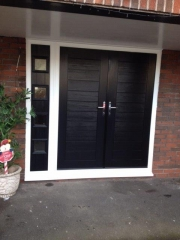 contemporary composite front doors