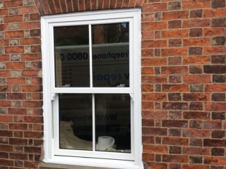 external view of upvc sash windows