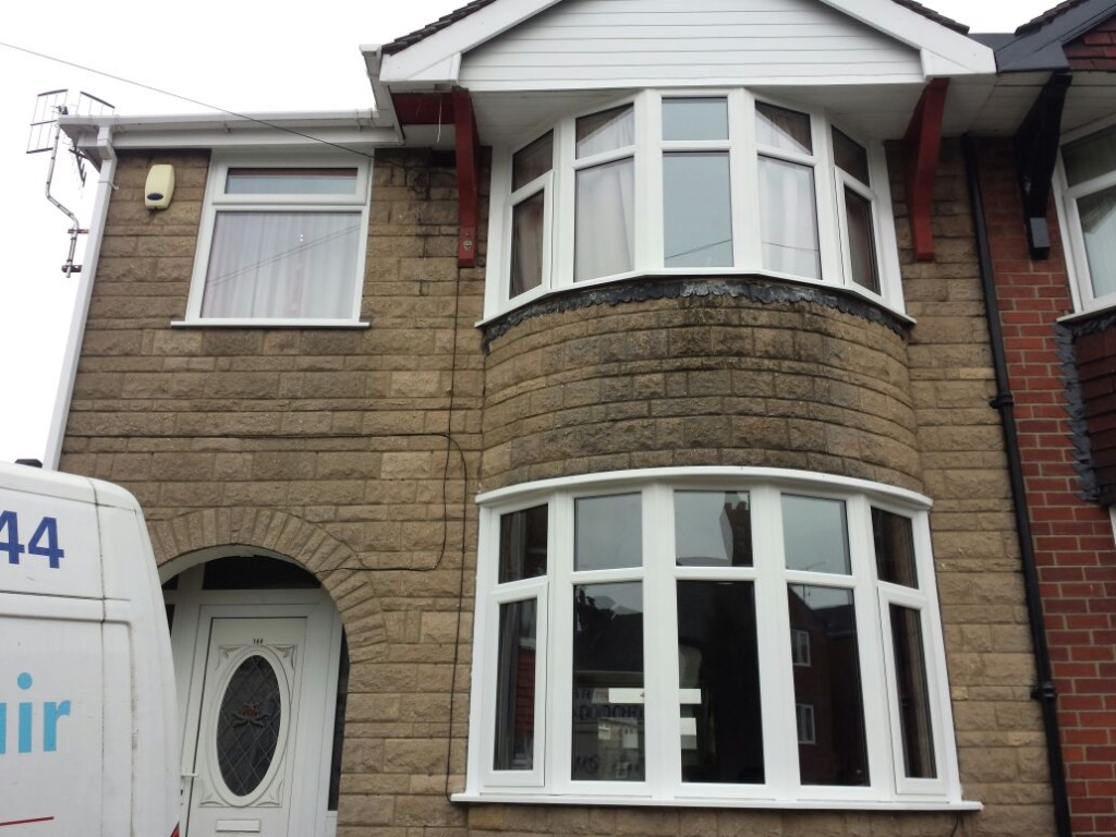 New white double glazing fitted in a 1950s property