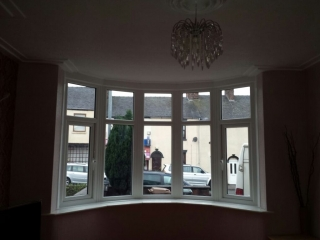 Internal view of a upvc bay window