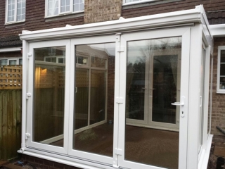 bifold doors fitted to a conservatory